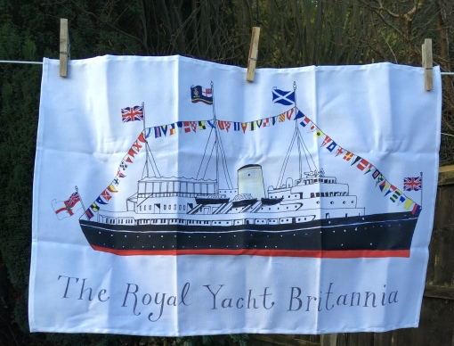 The Royal Yacht Britannia: 2018. To read the story www.myteatowels.wordpress.com/2019/01/18/roy