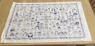 Feckenham Church of England First School Millennium Tea Towel. On 'loan' from @Griffiths4Nicky