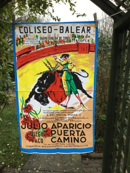 Bull Fighting Poster: Acquired in 2018 as part of a collection, not yet blogged about