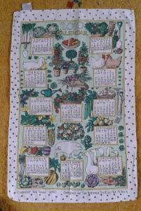 2010 Calendar Tea Towel. To read the story www.myteatowels.wordpress.com/2020/10/21/2010