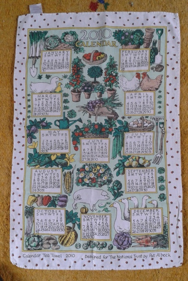 2010 Calendar Tea Towel. Not yet blogged about