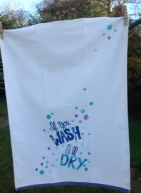 If you wash, I'll dry: On 'loan' from Kate, a Guest Tea Towel 2018