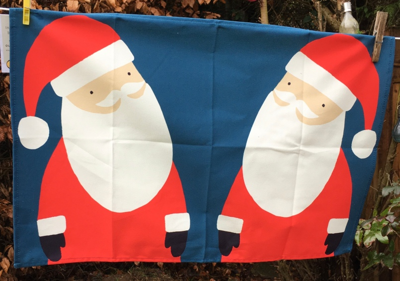 Father Christmas: 2019. To read the story www.myteatowels.wordpress.com/2019/12/28/fat