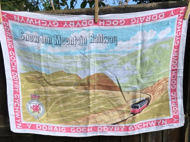 Snowdon Mountain Railway: Acquired 2018, probably vintage. To read the story www.myteatowels.wordpress.com/2018/06/19/sno