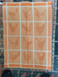 Chickens: On 'loan' from Stephen - see Guest Tea Towel 2018