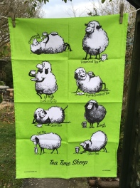 Tea Time Sheep: 2018. To read the story www.myteatowels.wordpress.com/2018/03/08/tea