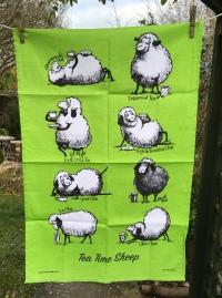 Tea Time Sheep: 2018. To read the story www.myteatowels.wordpress.com/2018/03/08/tea