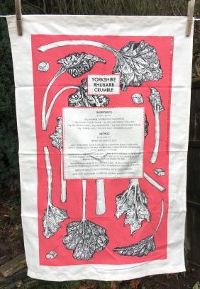 Yorkshire Rhubarb Crumble: 2019. To read the story www.myteatowels.wordpress.com/2019/02/14/yor