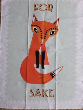For Fox sake: On 'loan' from Fee - see Guest Tea Towel 2018