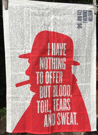 Winston Churchill: 2019. To read the story www.myteatowels.wordpress.com/2019/07/31/win