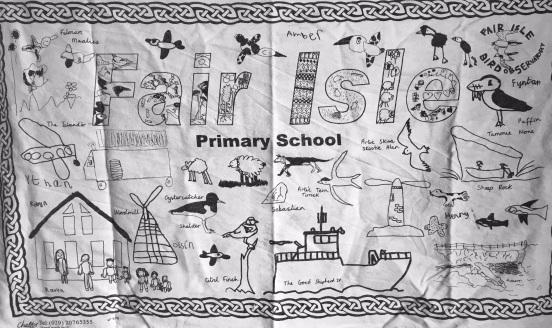 Fair Isle Primary School. On 'loan' from Fair Isle Primary School