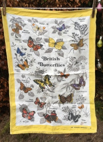 British Butterflies: Acquired 2019, vintage. To read the story www.myteatowels.wordpress.com/2019/12/18/bri