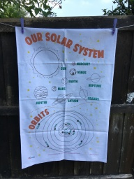 Our Solar System (or reaching for the stars): 2018. To read the story www.myteatowels.wordpress.com/2018/07/14/our