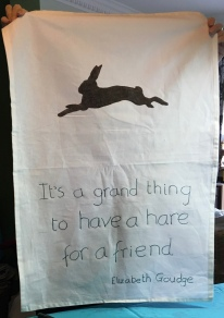 The Hare: Acquired 2018. To read the story www.myteatowels.wordpress.com/2020/07/25/hare