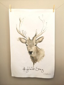 Highland Stag: On 'loan' from Clare Baird. See In Conversation With...