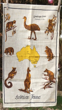 Australian Animal Life: Acquired 2019. To read the story www.myteatowels.wordpress.com/2020/08/01/aus