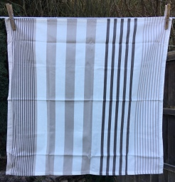 Huggable Cream and Fawn Stripes: 2019. To read the story www.myteatowels.wordpress.com/2019/01/23/hug