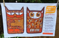 The Owl and the Pussycat: 2019. To read the story www.myteatowels.wordpress.com/2019/06/20/owl