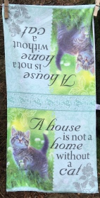 A House is not a Home without a Cat: 2019. To read the story www.myteatowels.wordpress.com/2019/04/06/hou