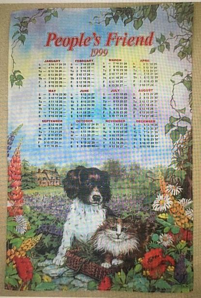 1999 Calendar Tea Towel. To read the story www.myteatowels.wordpress.com/2020/08/25/1999