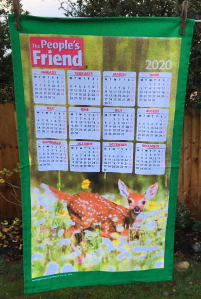 2020 Calendar Tea Towel. Not yet blogged about