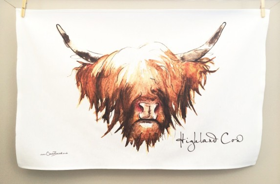 Highland Cow: On 'loan' from Clare Baird. See In Conversation With..