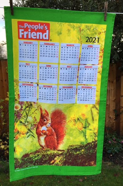 2021 Calendar Tea Towel. Not yet blogged about.