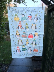 18 Christmas Penguins (or the Twelfth Day of Christmas): 2017. To read the story www.myteatowels.wordpress.com/2018/01/05/18c