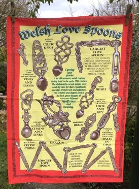 Welsh Love Spoons: 2018. To read the story www.myteatowels.wordpress.com/2018/03/13/wel