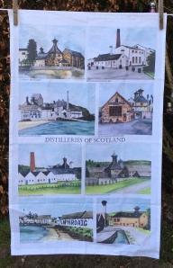Distilleries of Scotland: 2019. To read the story www.myteatowels.wordpress.com/2020/01/28/dis