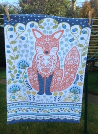 Fox: On 'loan' from Kate - see Guest Tea Towel 2018
