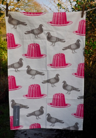 Pigeon and Jelly (or the First Day of Christmas): 2017. To read the story www.myteatowels.wordpress.com/2017/12/25/pig