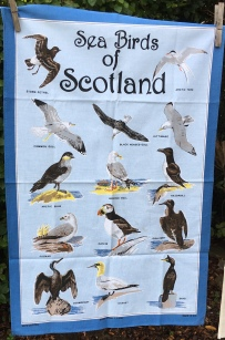Sea Birds of Scotland: Acquired 2019 but definitely older. To read the story www.myteatowels.wordpress.com/2020/04/15/sea