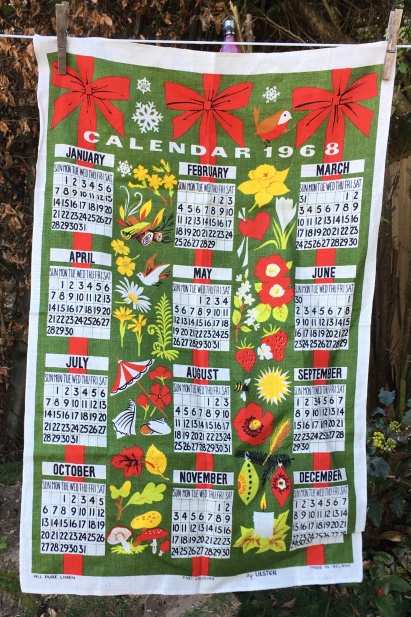 1968 Calendar Tea Towel: Acquired 2020. Not yet blogged about