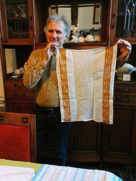 Traditional Italian Tea Towel on 'loan' from Andrew