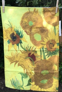 Sunflowers: 2019. To read the story www.myteatowels.wordpress.com/2019/07/14/sun