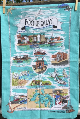 Poole Quay: 2018, probably vintage. To read the story www.myteatowels.wordpress.com/2018/07//04/poo