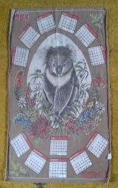 Koala on a Calendar: 1984. To read the story www.myteatowels.wordpress.com/2020/07/14/koa