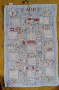 2011 Calendar Tea Towel. To read the story www.myteatowels.wordpress.com/2020/10/23/2011