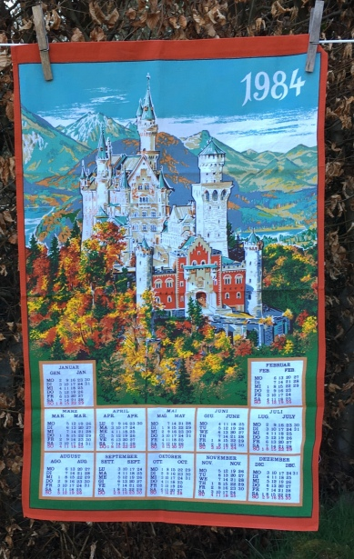 1984 Calendar Tea Towel. Acquired 2020. Not yet blogged about