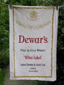 Dewar's: 1984. To read the story www.myteatowels.wordpress.com/2017/04/14/dew