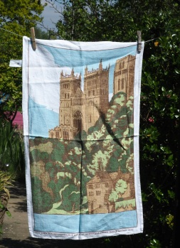 Durham Cathedral (from the River Wear): 1993. To read the story www.myteatowels.wordpress.com/2017/10/11/dur