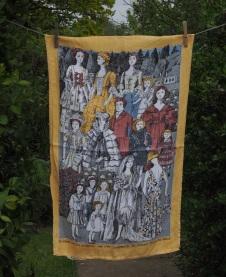 Killerton Hall: 1989. To read the story in Pat Albeck Queen of Tea Towels www.myteatowels.wordpress.com/2018/07/16/pat