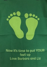 Now it's time to put Your feet up: 2017. To read the story www.myteatowels.wordpress.com/2017/03/21/now