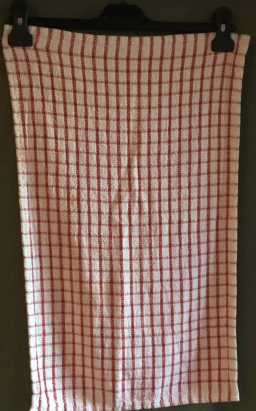 "Red and White Check: There were 3 of these tea towels in Jean's Collection. ""I didn't buy this; it was bought by one of Betty's carers. She didn't ask. She thought she knew best"" Included in www.myteatowels.wordpress.com/2018/03/25/too"