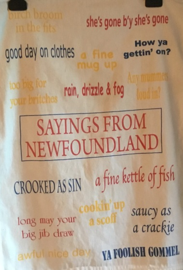 Sayings From Newfoundland: Acquired 2016. To be part of a Special Collection