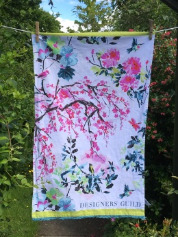 Designer Guild Chinoiserie Peony: 2017. To read the story www.myteatowels.wordpress.com/2017/06/09/des