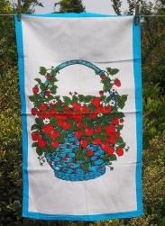 Strawberry Basket: 2017. To read the story www.myteatowels.wordpress.com/2017/07/04/str