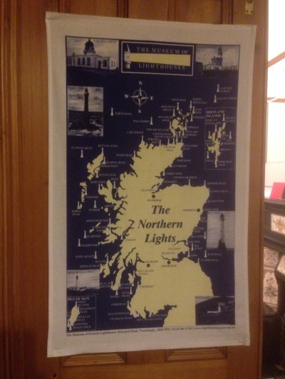 The Northern Lights: On 'loan' from a holiday cottage at Aberdeen Lighthouse! To read the story www.myteatowels.wordpress.com/2017/10/30/nor