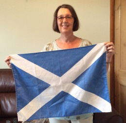 The Saltire. Read Lyn's Guest Tea Towel for the story